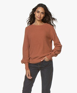 by-bar Doortje Modal Blend Rib Sweater - Terracotta