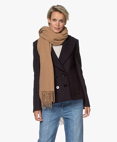 Drykorn Gaze Wool Scarf - Toasted Coconut