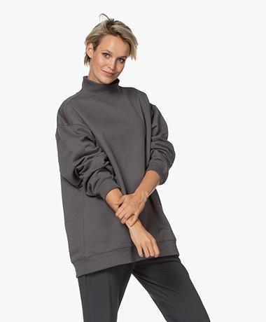 Filippa K Soft Sport Oversized Sweatshirt - Metal