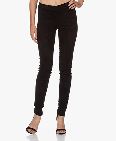 Repeat Luxury Suede Slim-fit Pants - Black