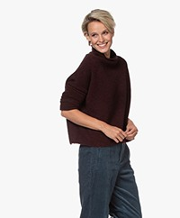 Filippa K Mika Yak Sweater - Maroon Mêlee