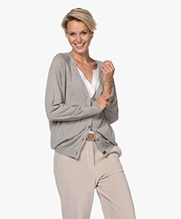 Repeat Bamboe Viscose V-hals Vest - Taupe
