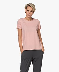 Majestic Filatures Silk Touch Katoenen T-shirt - Rose Tan