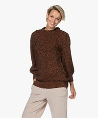 ANINE BING Rosalind Alpaca Blend Sweater - Brown/Rust