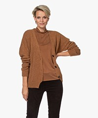 by-bar Sofie Wool Blend Button-trough Cardigan - Caramel