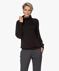 Repeat Bamboo Viscose and Cashmere Turtleneck Sweater - Black