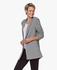 Repeat Jersey Boyfriend Blazer - Medium Grey