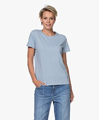 Majestic Filatures Silk Touch Cotton T-shirt - Parisian Blue