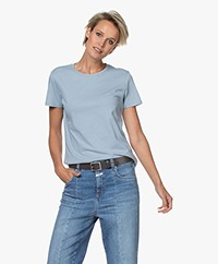 Majestic Filatures Silk Touch Katoenen T-shirt - Parisian Blue