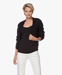 Sibin/Linnebjerg Celine Mohair Blend Single-button Cardigan - Black