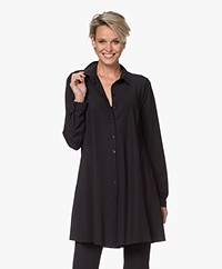 JapanTKY Emi Travel Jersey A-line Tunic Blouse - Deep Black