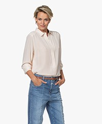 Repeat Silk Shirt Blouse - Powder