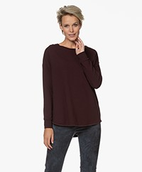 Majestic Filatures French Terry Sweatshirt - Aubergine