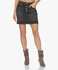 IRO Vivy Denim Skirt - Faded Black