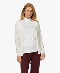 Repeat Biologisch Cashmere Vest - Crème