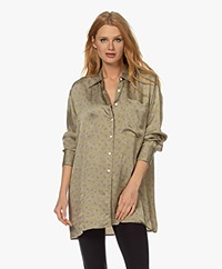 American Vintage Gintown Printed Satin Shirt - Marianne