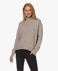 Majestic Filatures Cashmere Blend Turtleneck Sweater - Carrare