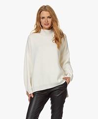 Resort Finest Cape Wool-Cashmere Mix Sweater - Ecru