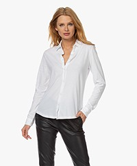 Majestic Filatures Deluxe Cotton Jersey Blouse - Wit