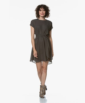 American Vintage Azulay A-line Dress - Carbon