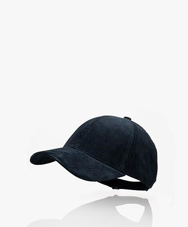 Varsity Headwear Katoenen Corduroy Pet - Midnight Blue