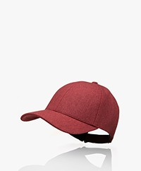 Varsity Headwear Virgin Wool Cap - Maroon Red