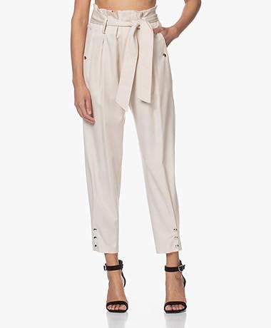 IRO Borcie Twill Paperbag Pantalon - Ecru