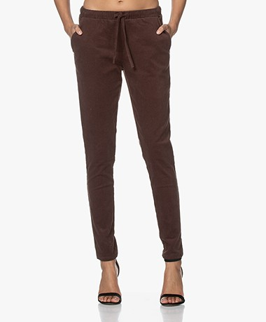 Woman by Earn Fae Corduroy Pants - Dark Brown