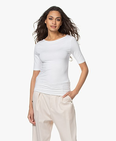 Majestic Filatures Soft Touch Boothals T-shirt - Wit