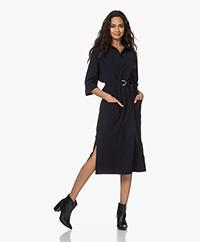 JapanTKY Maeko Travel Jersey Midi Dress - Blue Black