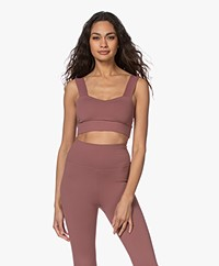 Norba Wave Sports Bra Top - Rosewood