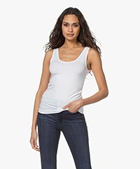 Majestic Filatures Soft Touch Jersey Tanktop - Wit