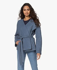 Closed Amelie Short Virgin Wool Blend Jacket - Commodore Blue