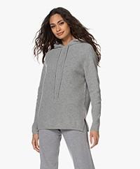 Sibin/Linnebjerg Freja Knitted Hooded Sweater - Grey Melange