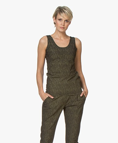 JapanTKY Iyo Party Reversible Tanktop - Zwart/Goud