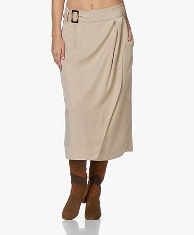 Josephine & Co Abelia Tencel Midi Skirt - Sand