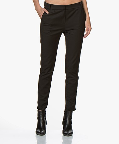 La Petite Française Papillon Pants with Striped Trim - Black