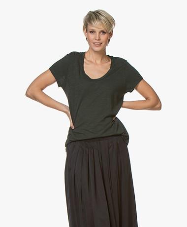 American Vintage Jacksonville Ronde Hals T-shirt - Pine