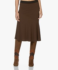 By Malene Birger Tassia Jersey Ruffle Skirt - Warm Brown