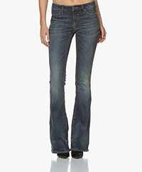 Denham Farrah Christina Flare Fit Jeans - Blauw