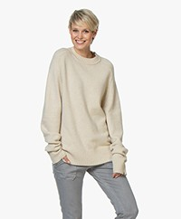 extreme cashmere N°123 Bourgeois R-neck Sweater - Latte