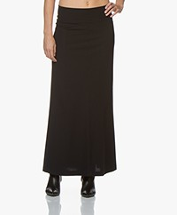 JapanTKY Rena Travel Jersey Maxi Skirt - Black