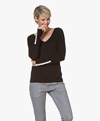 Plein Publique La Papillion V-Neck Sweater - Black