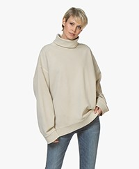 Denham Kussharo Oversized Roll Neck Sweater - Natural Beige