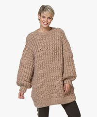 I Love Mr Mittens Hurdle Crew Neck Sweater - Camel