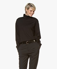 Drykorn Femke Lyocell Turtleneck T-shirt - Black