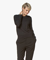 Filippa K  Merino R-neck Sweater - Charcoal Melange