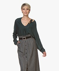 Drykorn Simony Wool V-neck Sweater - Dark Green