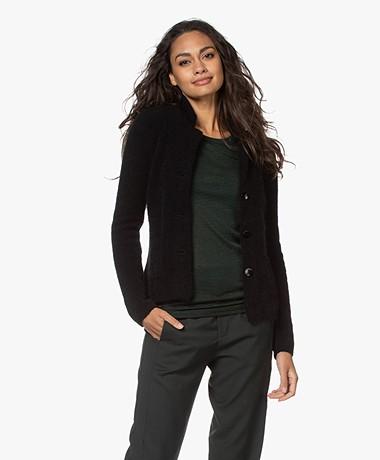 Belluna Watson Mohair Blend Blazer Cardigan - Black