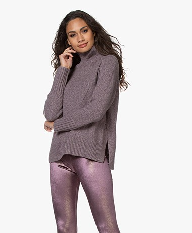 Zadig & Voltaire Dine Recycled Cashmere Turtleneck Sweater - Violet